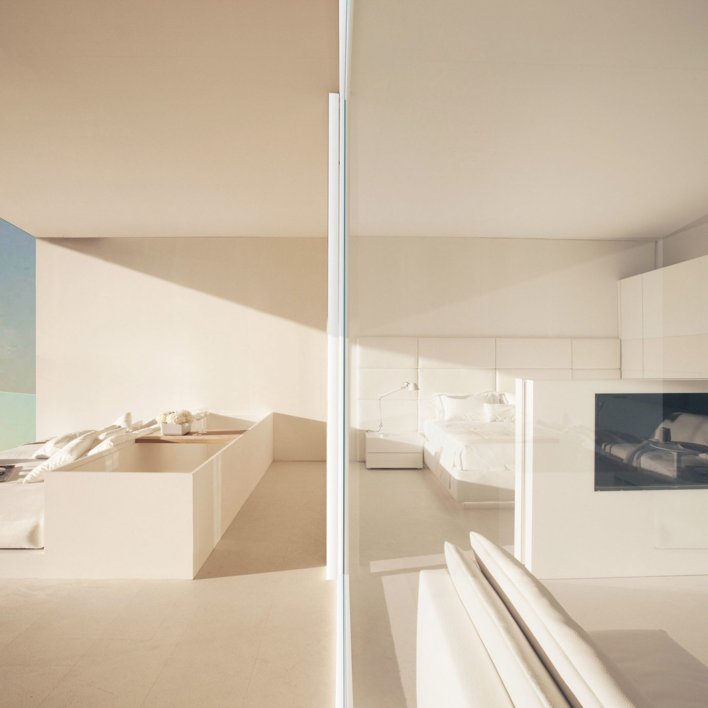 property Architecture house white daylighting lighting professional living room