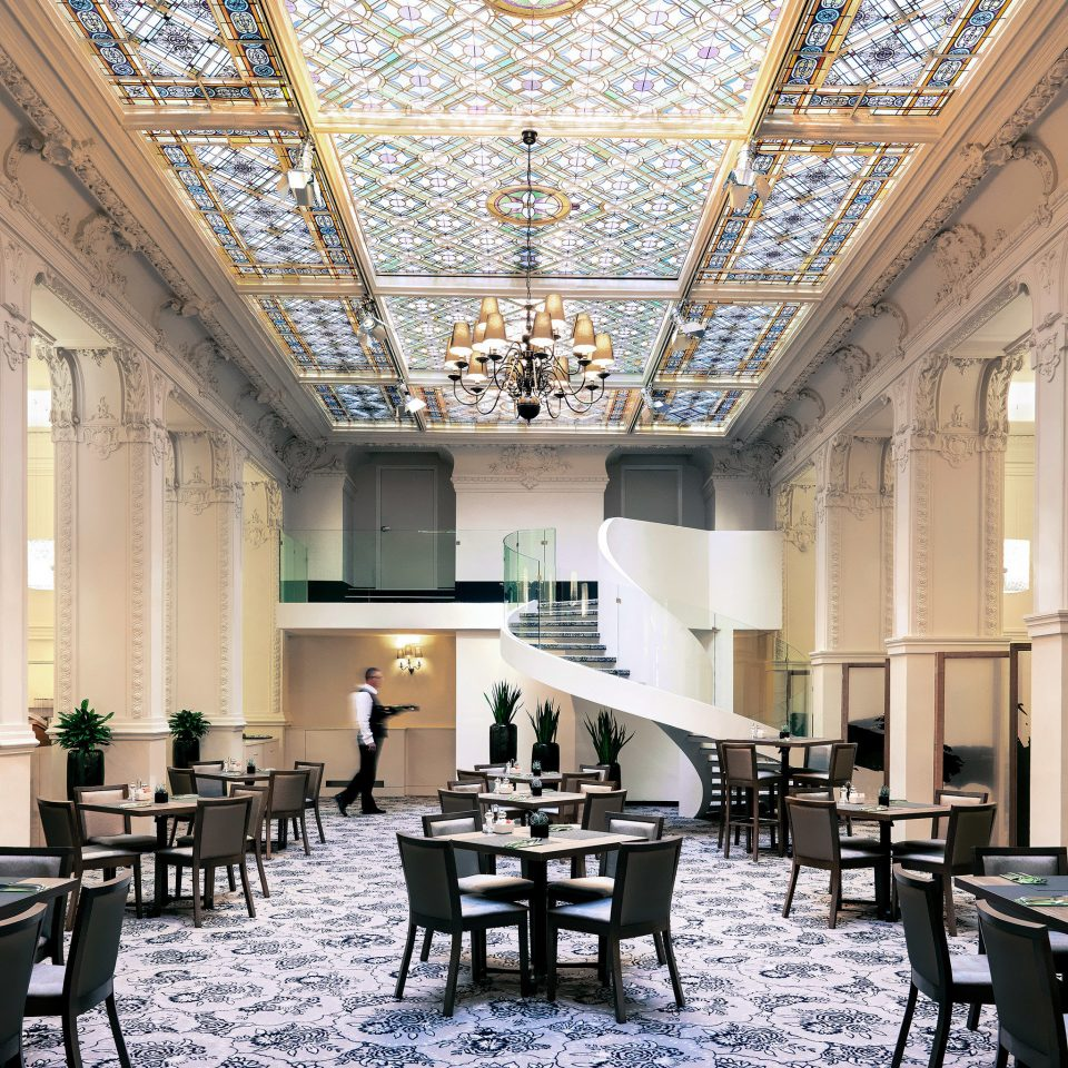 Architecture Dining Drink Eat Modern chair building conference hall function hall palace convention center ballroom auditorium Lobby library