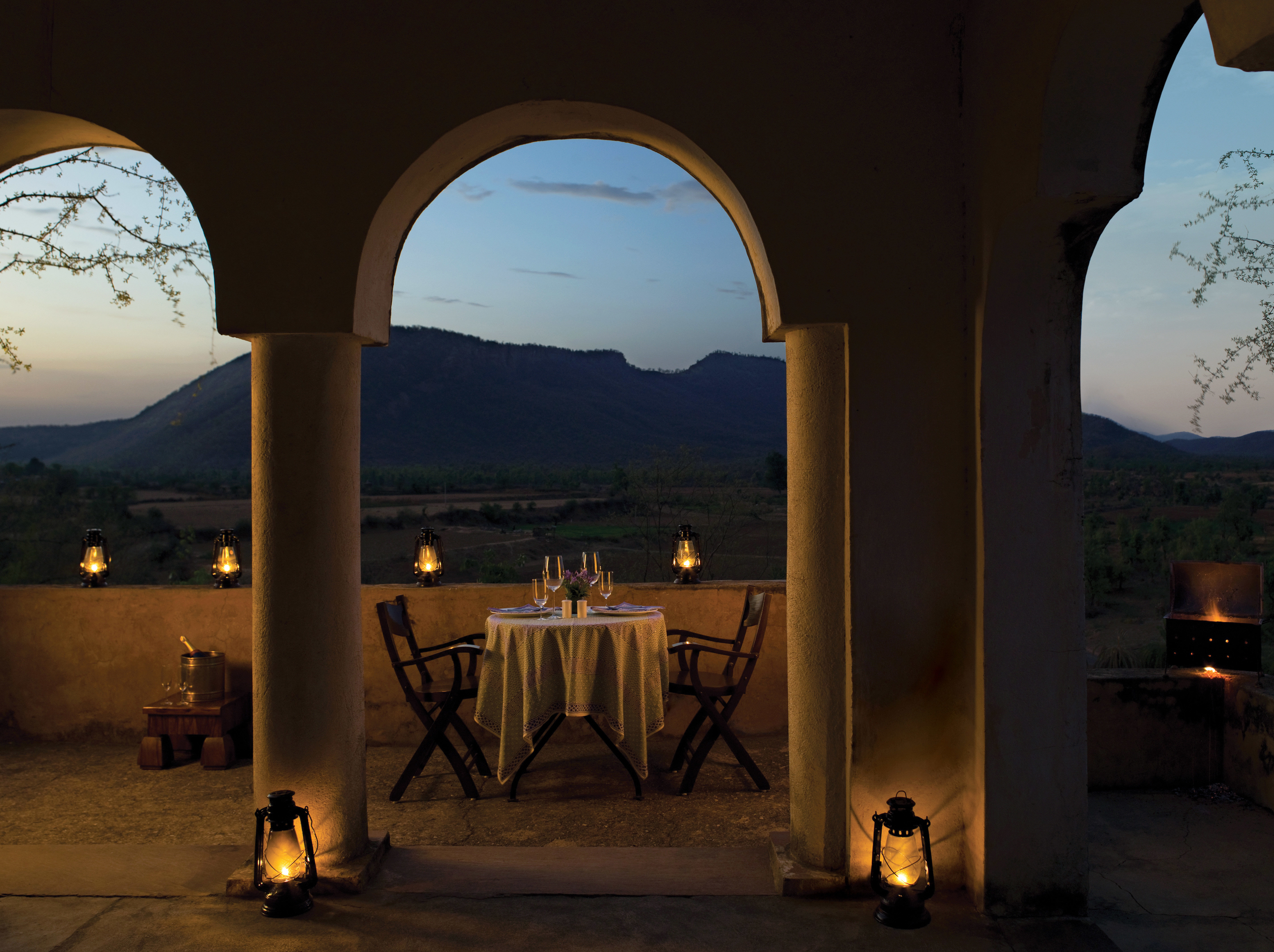 Dining Drink Eat Lodge Luxury Nightlife Scenic views arch Architecture night lighting evening ancient history temple hacienda