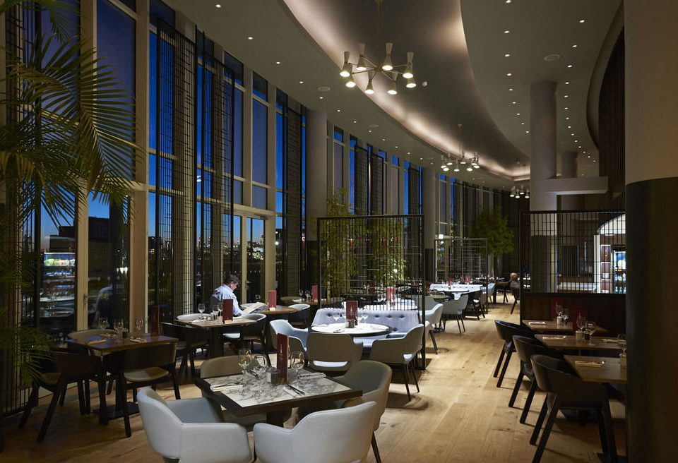 building Architecture Lobby restaurant Dining lighting convention center condominium