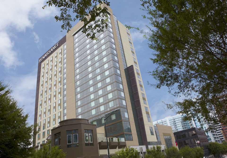 tree sky building tower block property condominium landmark neighbourhood residential area Architecture Downtown skyscraper headquarters tower plaza apartment building