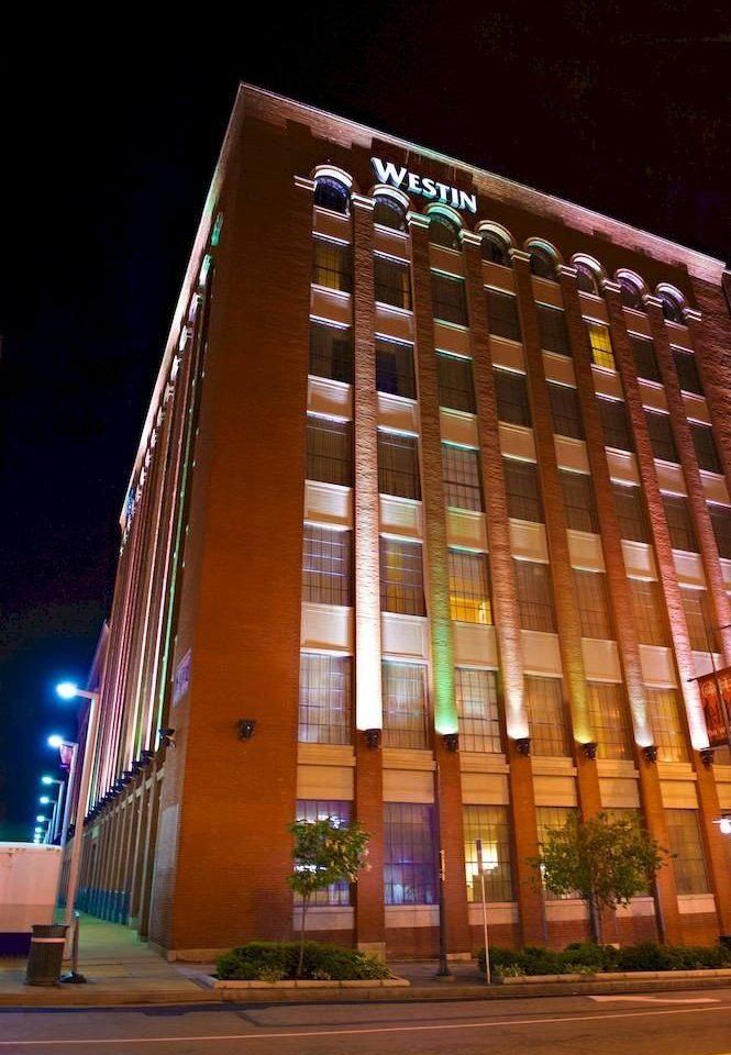 metropolitan area night building Architecture Downtown skyscraper
