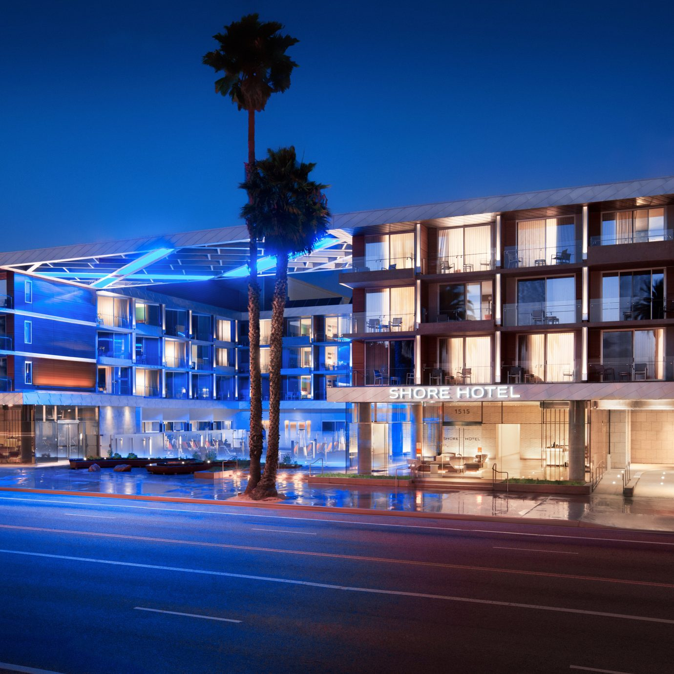 Eco Exterior Modern road sky night neighbourhood house Architecture residential area evening Downtown blue cityscape condominium light plaza