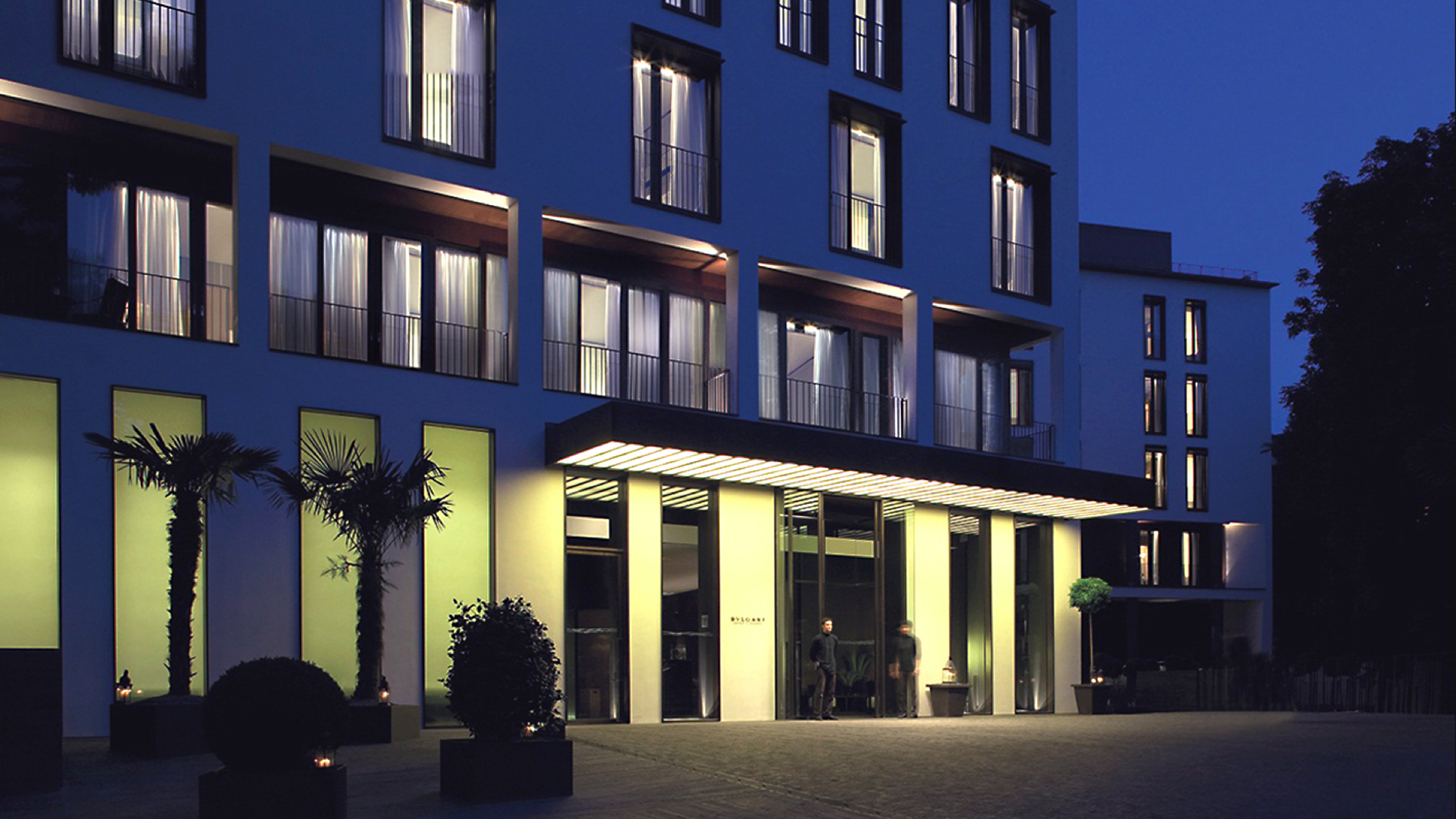 Exterior Luxury Modern building landmark Architecture night house Downtown apartment building