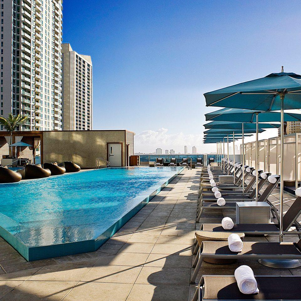Lounge Modern Outdoors Pool Rooftop Waterfront sky leisure swimming pool condominium Architecture dock walkway marina Resort Downtown
