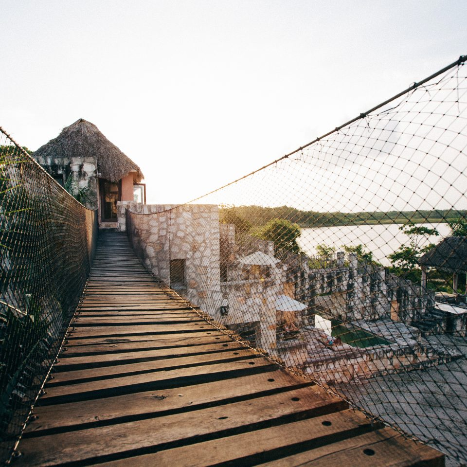 Eco Grounds Romance Rustic Scenic views sky building house Architecture roof outdoor structure bridge