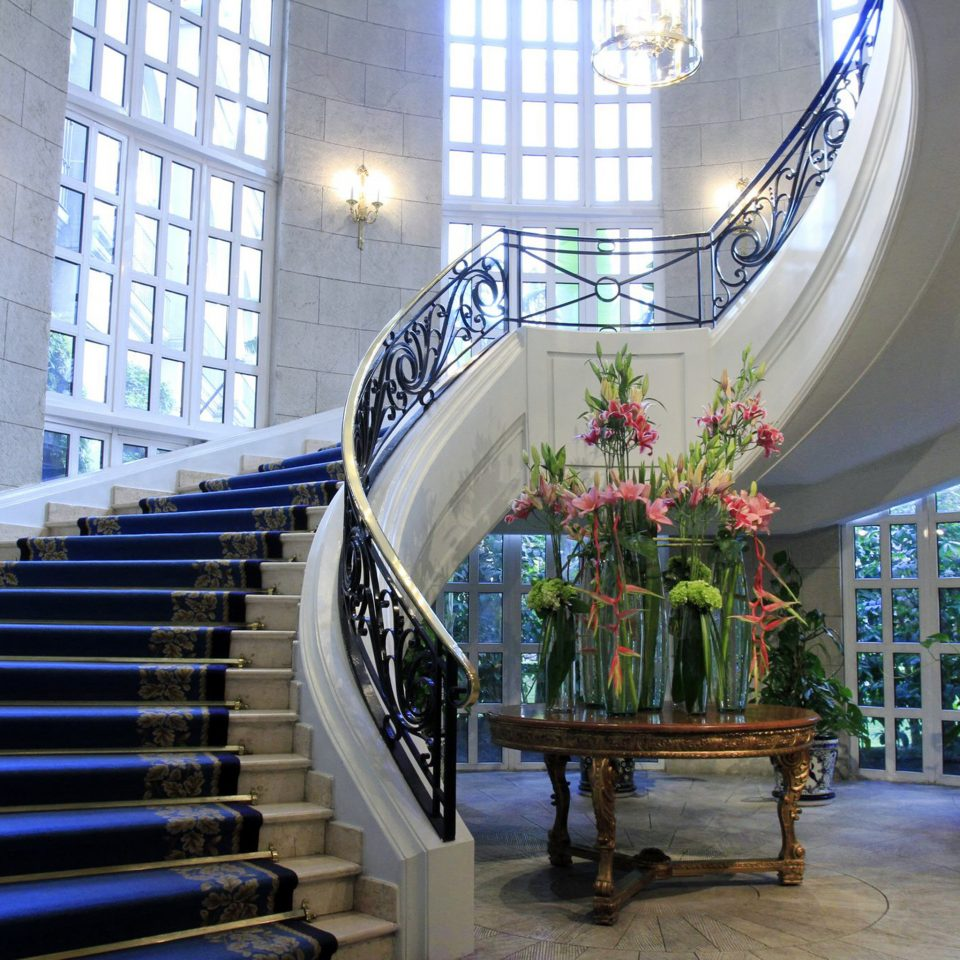 Elegant Lobby building Architecture stairs tourist attraction plant step