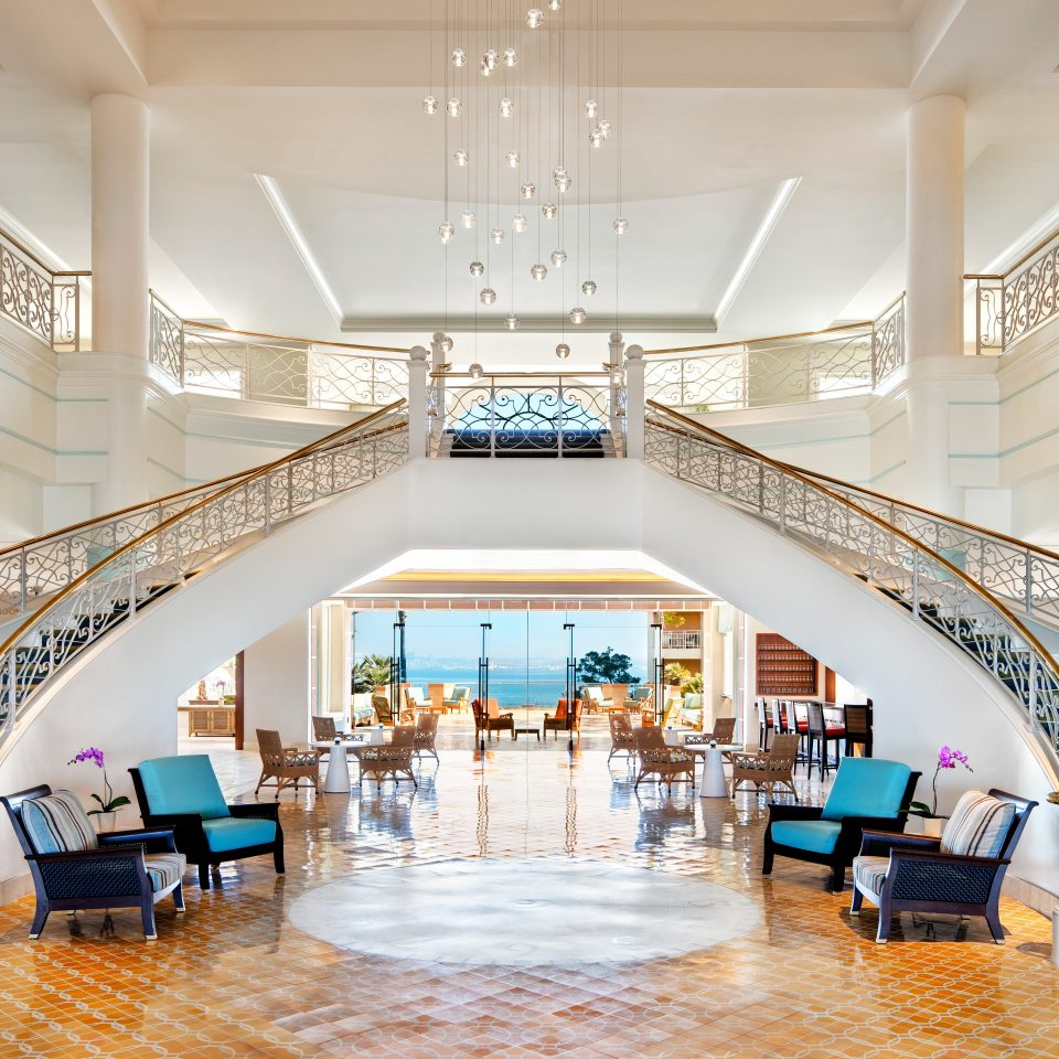 Elegant Lobby Lounge Ocean Scenic views Terrace Waterfront function hall aisle Architecture counter convention center auditorium ballroom