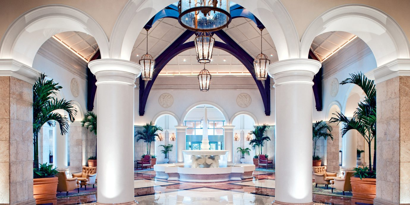 Elegant Lobby Lounge Architecture mansion arch column palace ballroom tile tiled colonnade