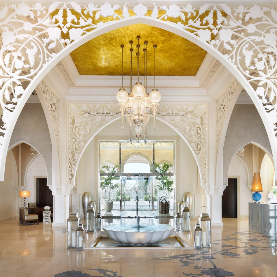 Elegant Lobby Lounge Luxury Resort arch palace Architecture aisle mansion ballroom hall chapel