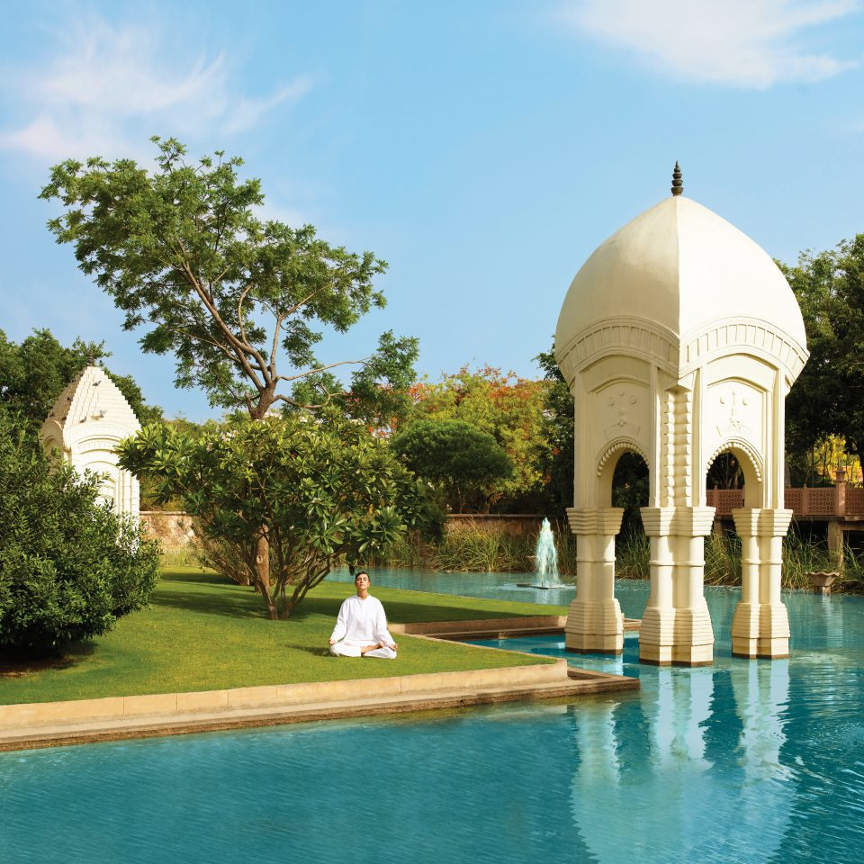 Architecture Exterior Garden Grounds Pool tree sky building swimming pool reflecting pool palace mosque place of worship