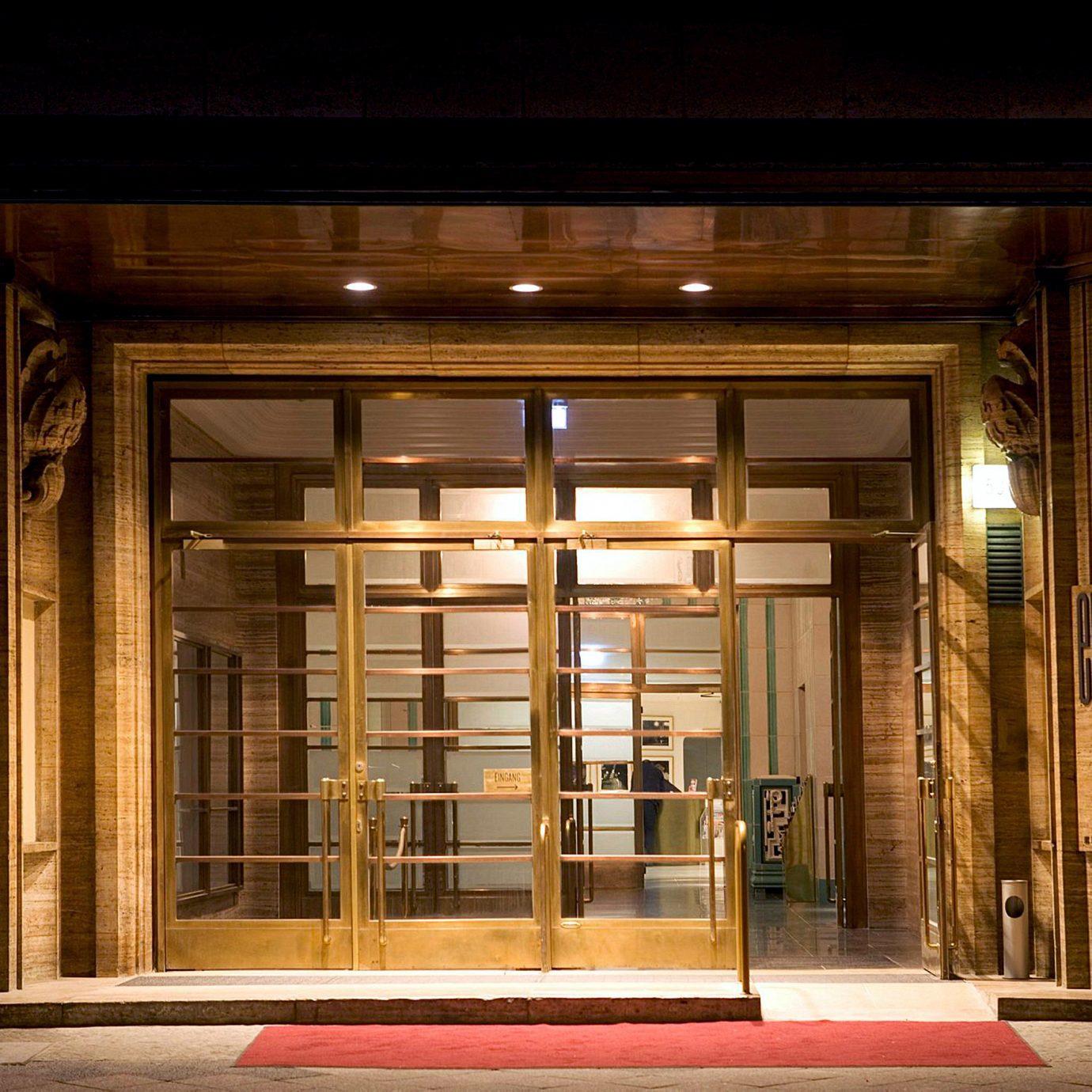 Exterior Luxury Modern Nightlife building Architecture house lighting home door Lobby hall