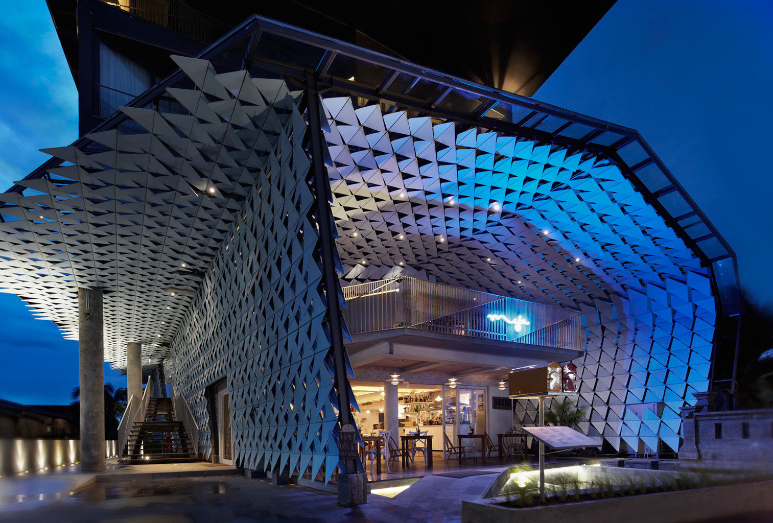 Exterior Luxury Modern Architecture night lighting convention center
