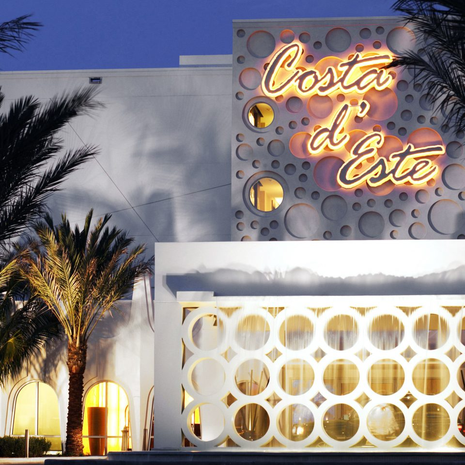Architecture Exterior Modern tree night restaurant light