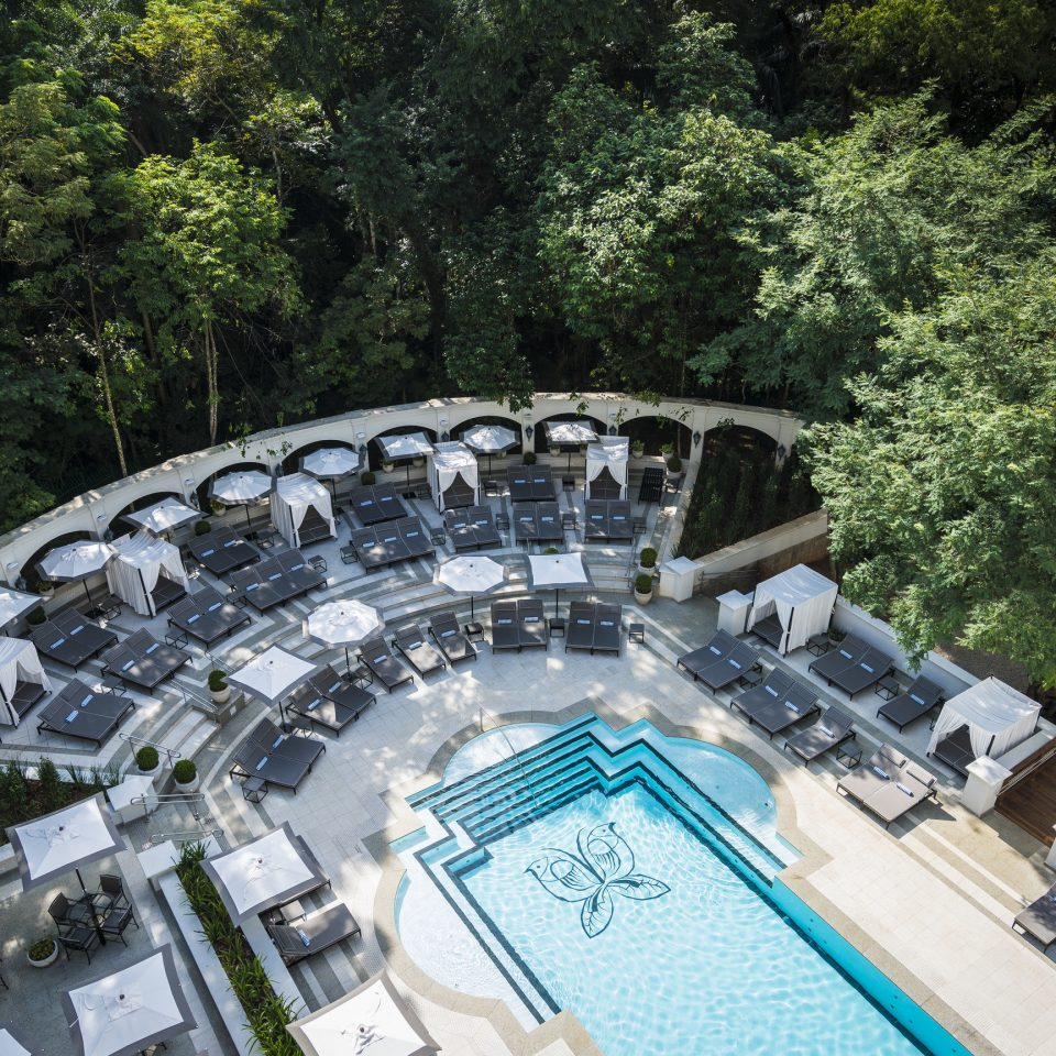 Architecture Fall Travel Hotels Luxury Travel News Trip Ideas tree swimming pool leisure water resort town Resort recreation Forest wooded