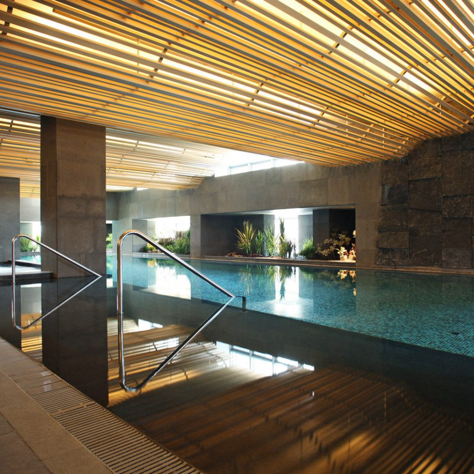 Fitness Luxury Modern Pool building swimming pool platform Architecture subway walkway