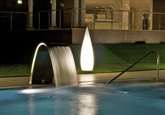 swimming pool light Architecture night lighting fountain
