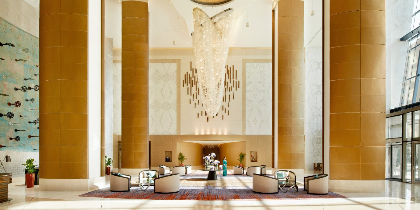 Hip Lounge Luxury Modern Scenic views Lobby Architecture home sink palace hall mansion ballroom tile tiled