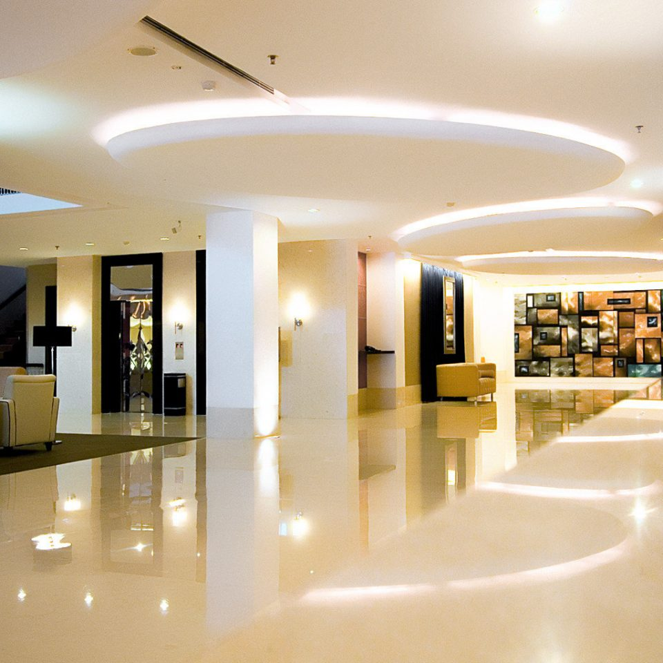 Hip Lounge Luxury Modern Lobby building Architecture white lighting headquarters
