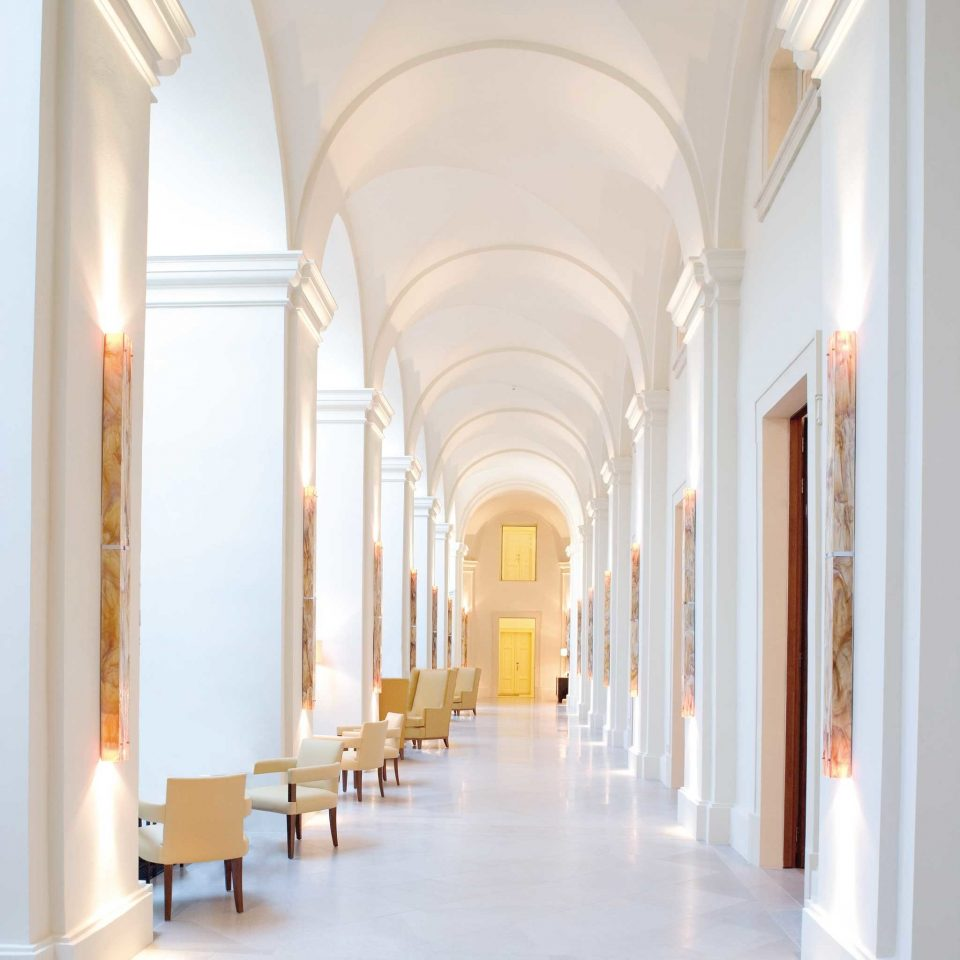 Hip Lounge Luxury Modern Scenic views building structure arch Architecture aisle hall Lobby arcade column palace colonnade
