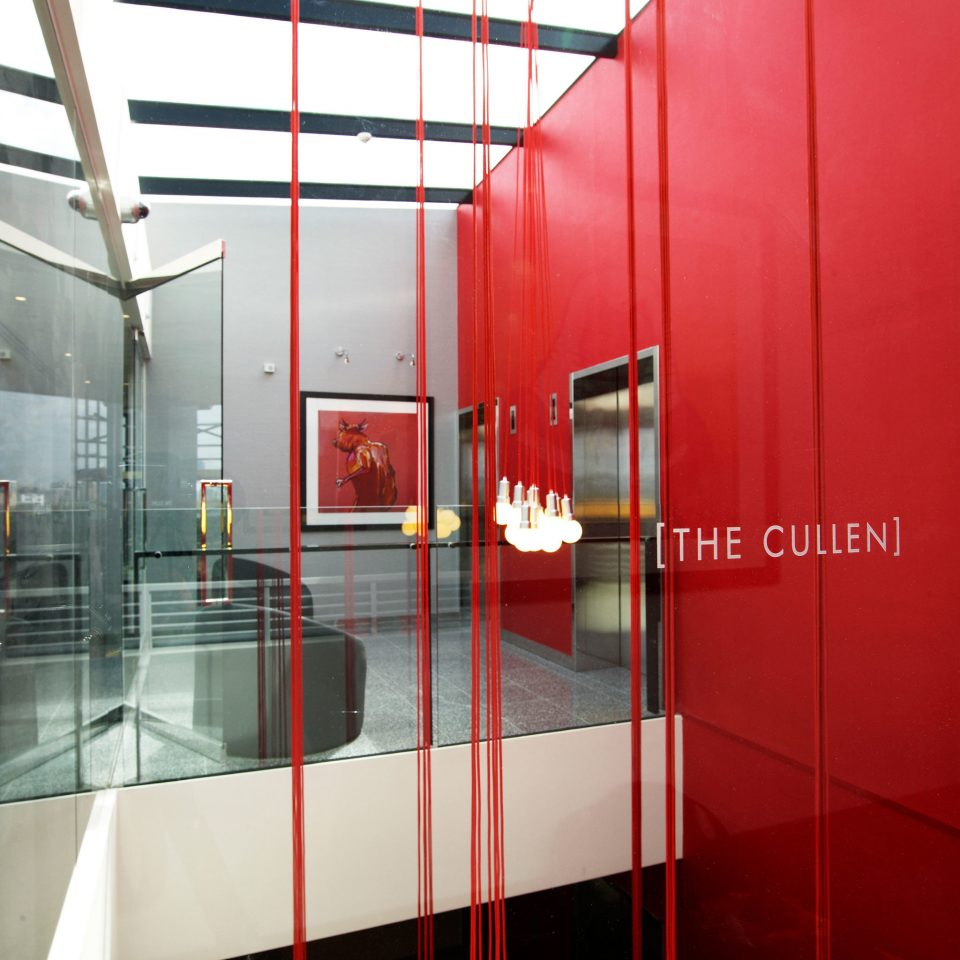Hip Lounge Modern red Architecture flooring door glass