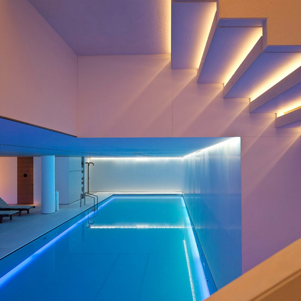 Hip Modern Pool swimming pool structure light Architecture leisure centre sport venue daylighting blue lighting