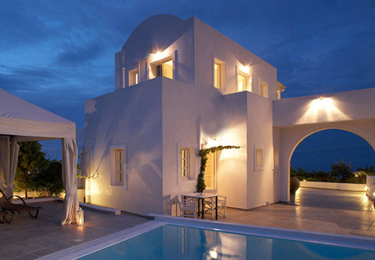house property Architecture Villa home hacienda lighting swimming pool Resort mansion Island