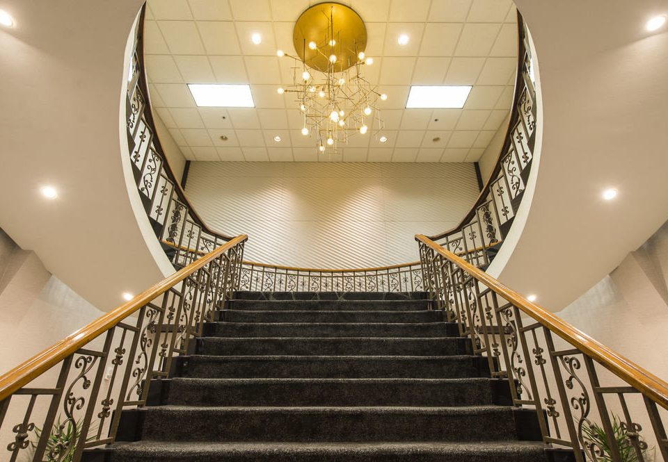 Architecture stairs auditorium aisle Lobby daylighting symmetry hall convention center step stair