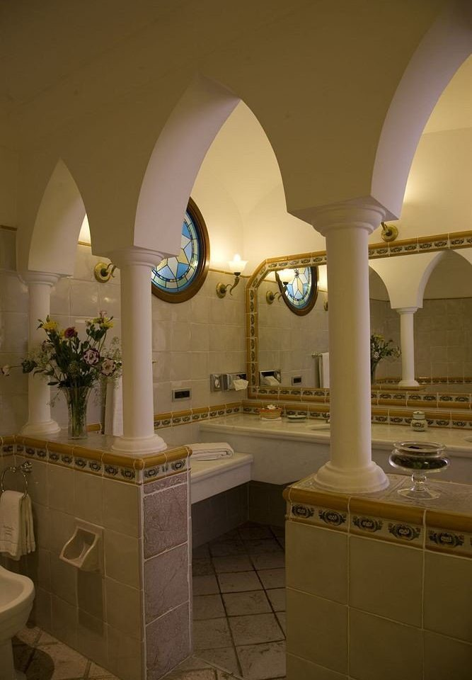 bathroom Architecture lighting home arch Lobby tiled