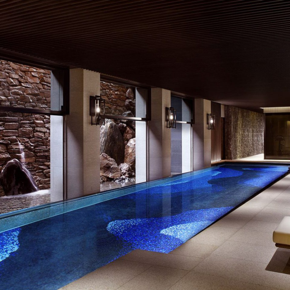 swimming pool Architecture Lobby home tourist attraction mansion blue
