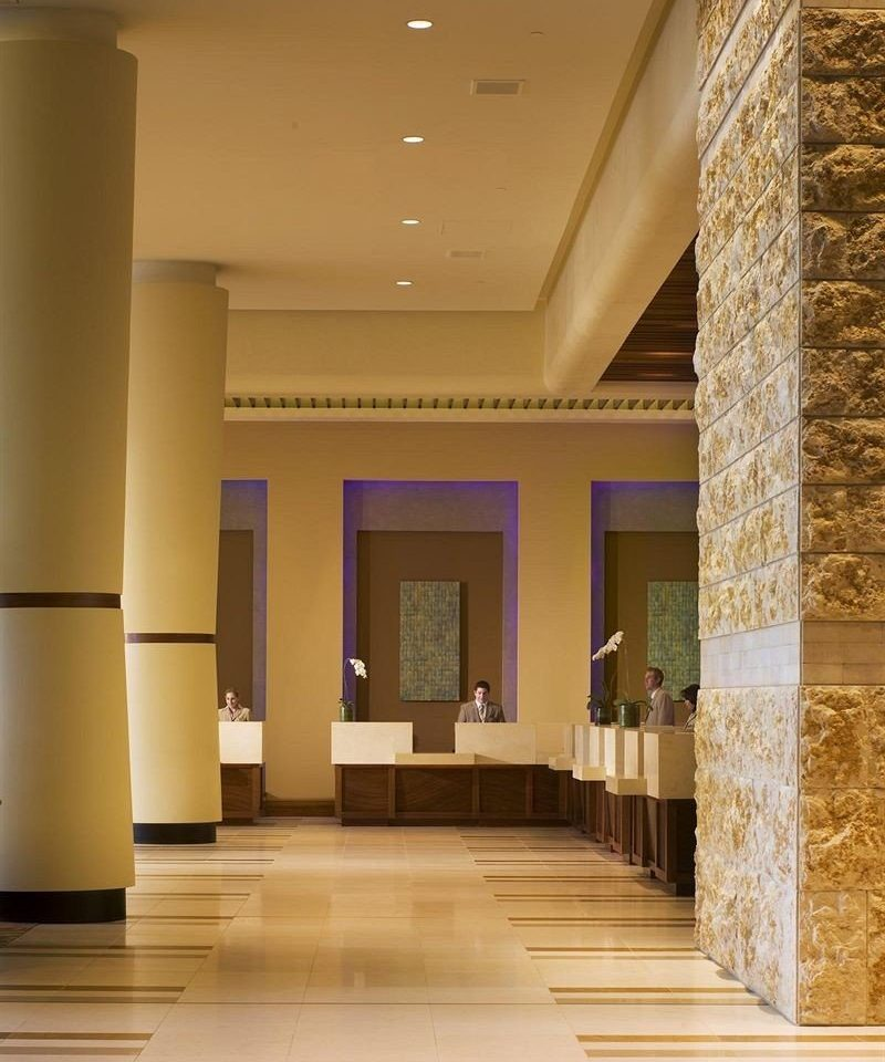 Lobby building Architecture hardwood hall flooring living room wood flooring column stone colonnade