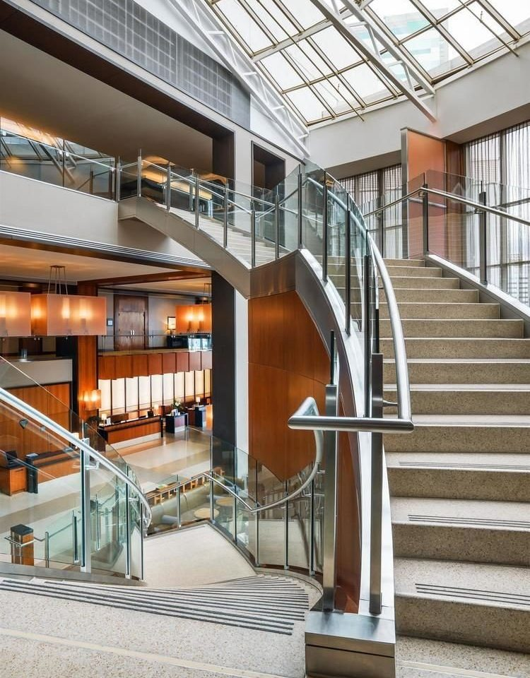 building stairs Architecture daylighting library headquarters professional Lobby handrail hall