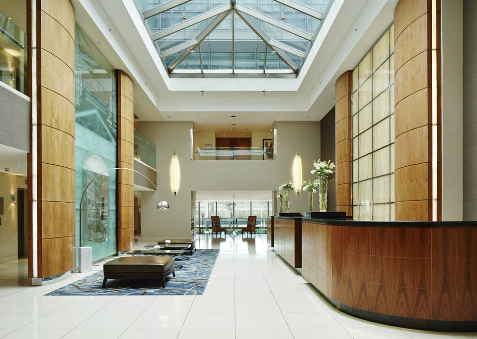 building Lobby Architecture home daylighting hall headquarters office library tile tiled