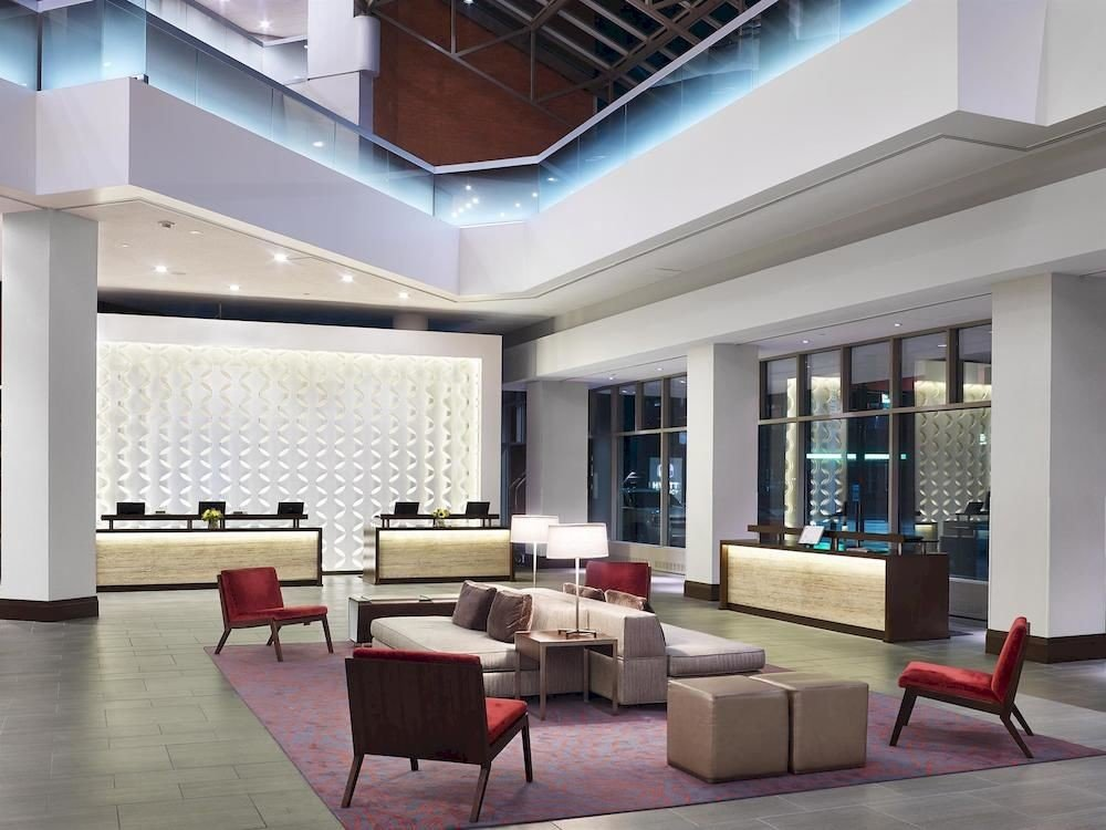 Lobby property living room condominium Architecture headquarters waiting room convention center conference hall