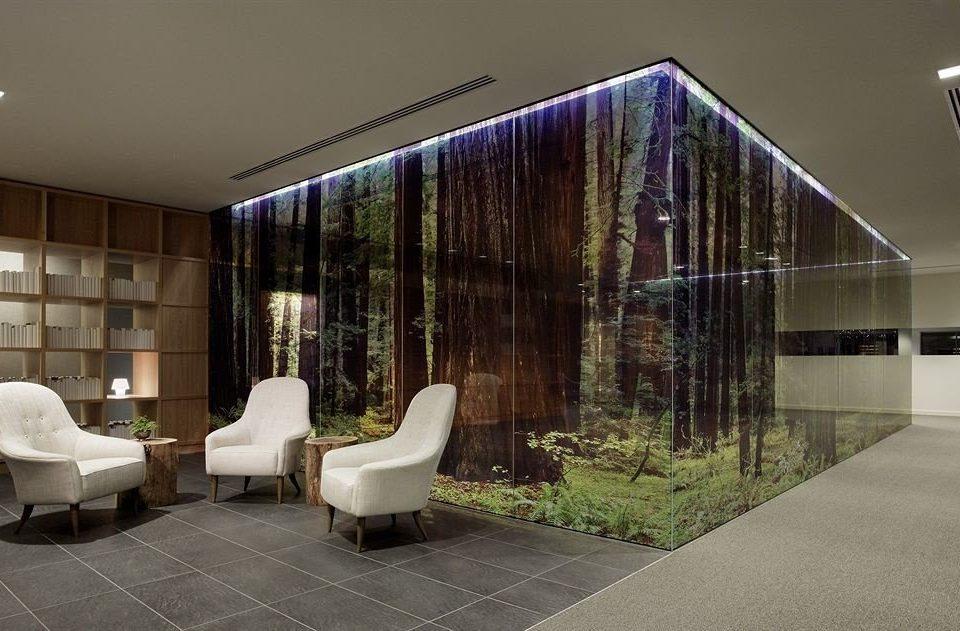 property house Architecture Lobby professional home daylighting headquarters condominium stone