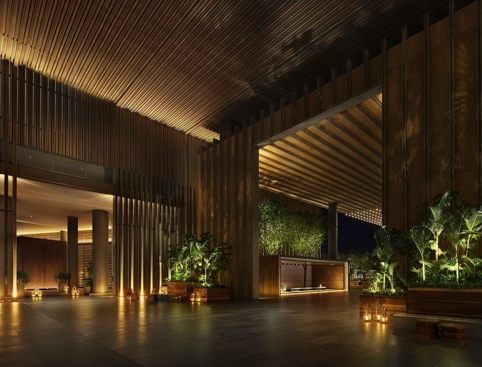night Lobby house light Architecture lighting professional landscape lighting convention center