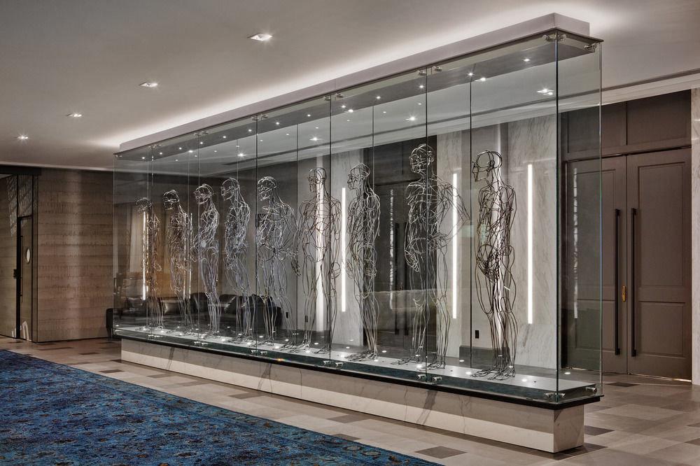 Lobby Architecture lighting daylighting glass hall headquarters door living room