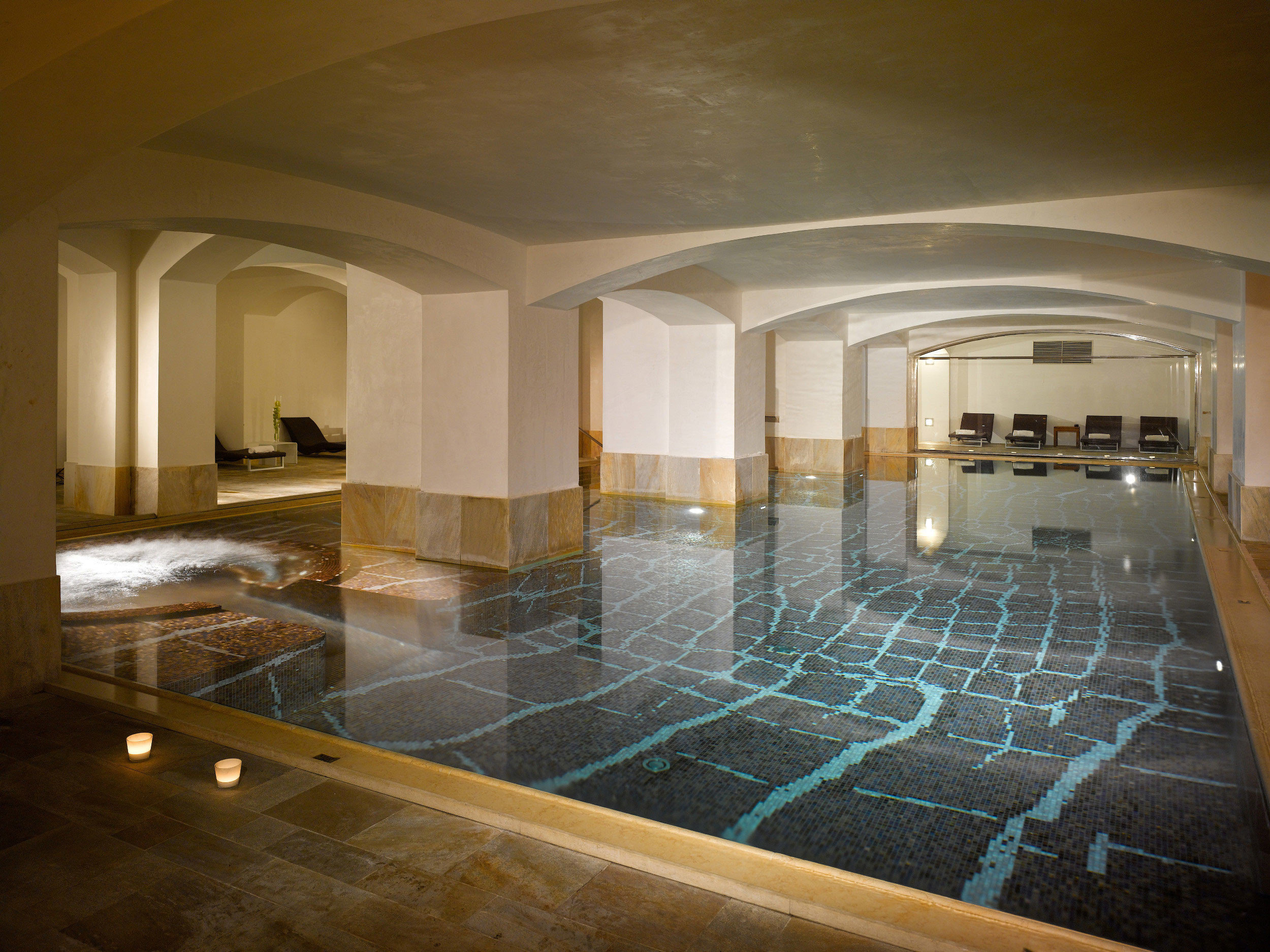 swimming pool property Architecture Lobby mansion home daylighting flooring
