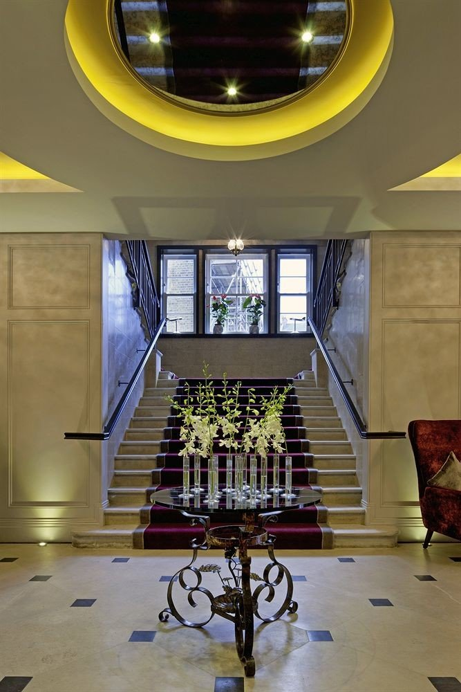 Lobby Architecture yellow home lighting living room hall flooring tourist attraction mansion