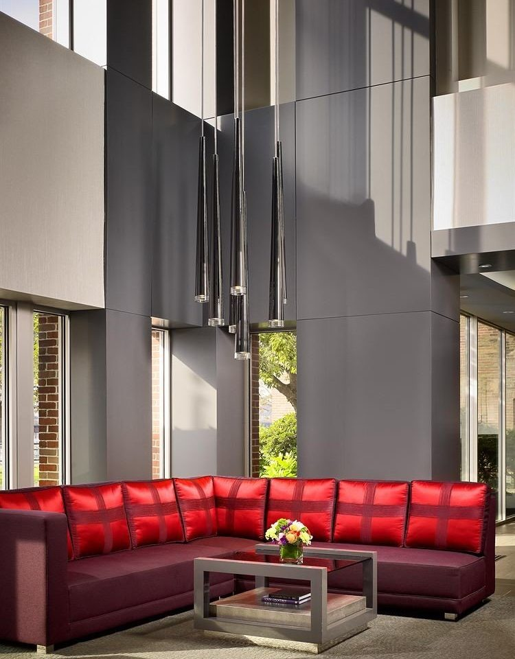 red Architecture living room lighting Lobby hall loft sofa seat