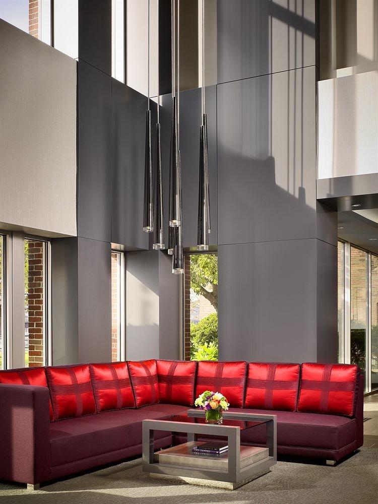red Architecture living room lighting Lobby hall loft sofa seat