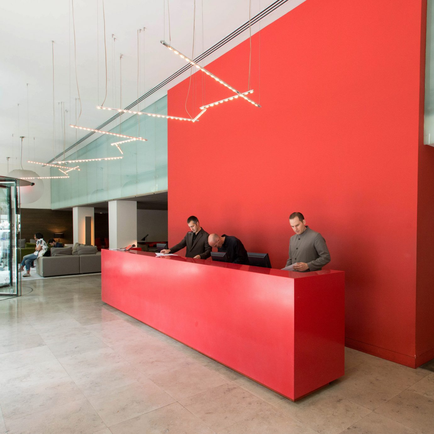 red Lobby Architecture office headquarters tourist attraction