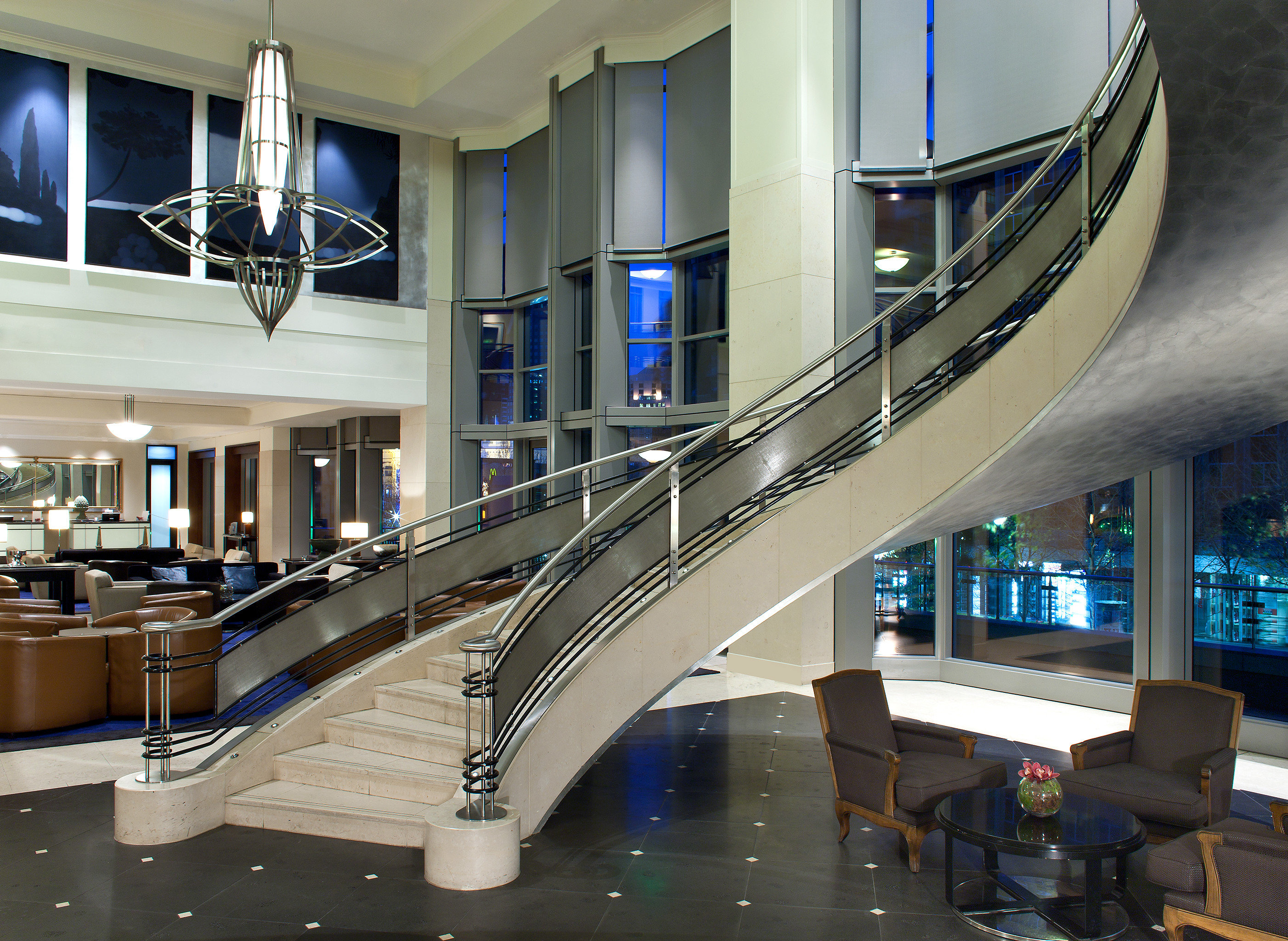 Lobby Lounge Luxury Modern shopping mall building Architecture public transport airport terminal headquarters convention center