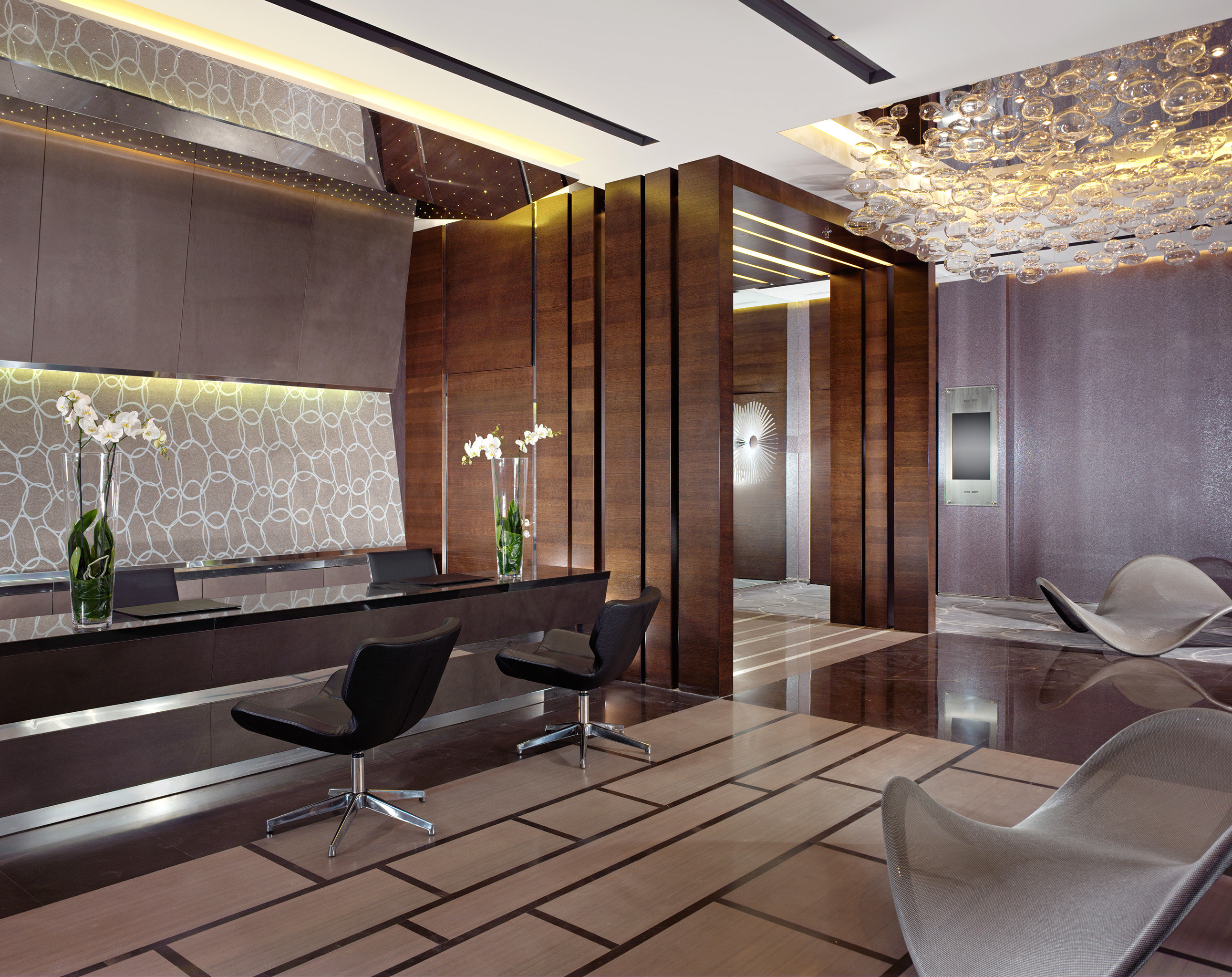 Lobby Lounge Modern property living room Architecture condominium home lighting Suite mansion professional