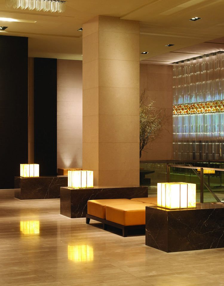 Lobby Architecture lighting living room flooring auditorium receptionist glass Modern