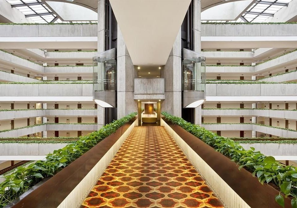 building aisle Architecture stairs condominium Resort convention center Lobby long walkway