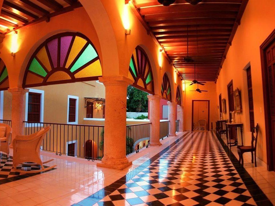 building Lobby Resort Architecture orange bright