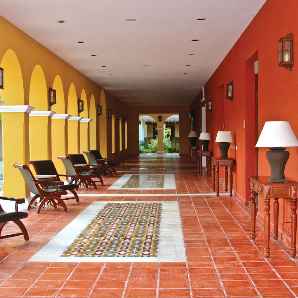 property building Lobby Architecture Resort Villa hall mansion palace hacienda Suite orange