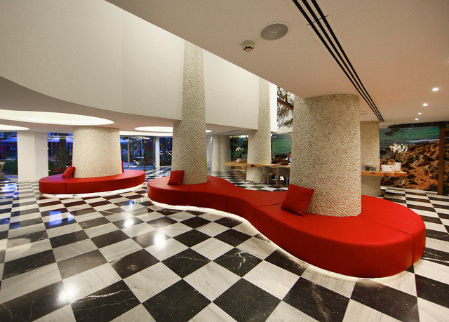 Lobby property red Architecture living room condominium Resort flooring Villa restaurant tiled