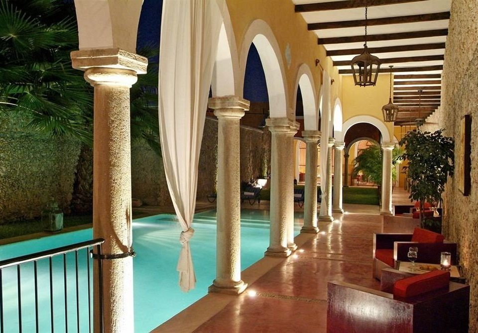 property building Architecture Resort lighting mansion home Villa palace swimming pool Lobby hacienda colonnade